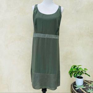 DKNY Loose Fit Tank Dress Olive Green EUC